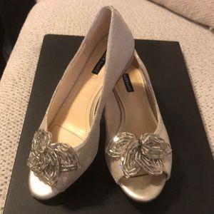 7e68fce6d2f14 Alex Marie Shoes - Desirae Metallic Leather Beaded Peep-Toe Pump